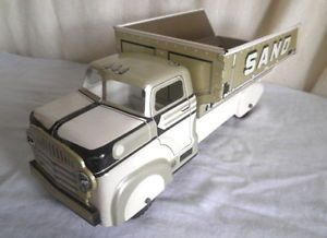 Old Tin Marx Sand Gravel Truck Vintage Pressed Steel Toy