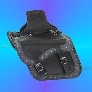 2pc Saddle Bags Set for Yamaha Road Star V Star Roadliner Zip Off w Lock U16