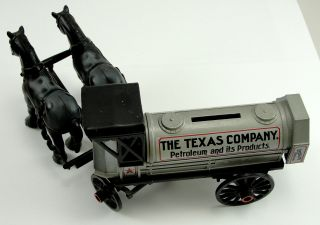 Ertl Toy 1910 Texaco Horse Trailer Bank Die Cast Limited Edition 1 32 Scale