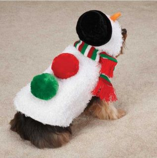 Casual Canine Snowman Dog Coat Costume Jacket XXS XL Christmas Holiday Snow Man