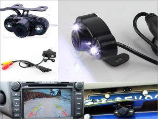 Car Rearview Reverse Camera 170 Degree Water Proof LED Light Night Vision 2 5mm
