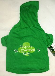 "Dog ""Happy St Patricks Day"" Hoodie Tee Shirt Pet Puppy Chihuahua Cat Clothes"