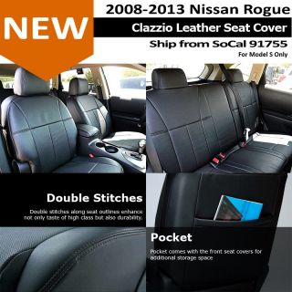 Clazzio Custom Perfect Fit Leather Seat Cover Black 08 12 Nissan Rogue S