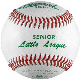 Diamond DSLL 1 Senior Little League Leather Baseballs 1 Dozen