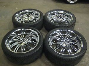 24 inch Chrome Rims II Crave Alloys NO11 Tires Wheels and Tires Jeep Wrangler