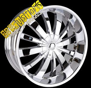 "22"" inch Rims Wheels Tires TW702 6x135 Ford Expedition 2008 2009 2010 2011 2012"