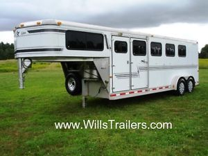 Silver Star 4 Horse Trailer Aluminum Slant Load $156 Monthly No Hidden Reserve