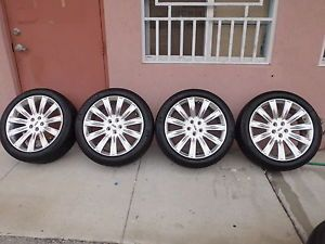 "Used 2012 Genuine Factory 20"" Lincoln MKS Wheels Tires MK s Michelin Rims"