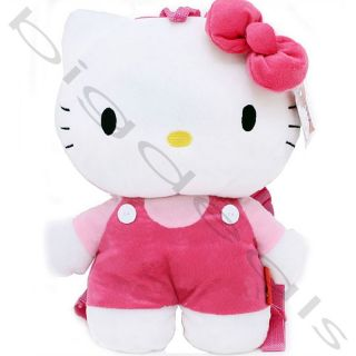 Hello Kitty Plush Backpack Doll Safety Harness Leash Sanrio School Bag Kid Purse
