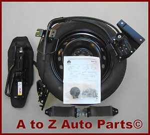 2012 Fiat 500 Complete Spare Tire Kit Wheel Tire Jack Winch Combo Mopar
