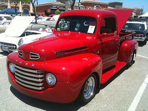 1948 Ford F1 Pickup Street Rod Hot Rod Pro Street Cosmo Red DVD 351 Windsor