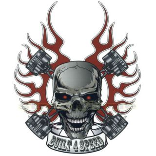 Skull Decal Graphic for Motorcycle Windscreens Decal Sticker
