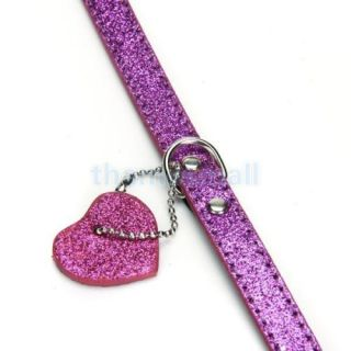 Shining Adjustable Dog Pet Puppy Collar Lead Harness