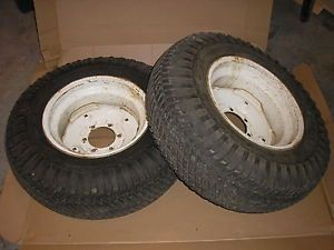 Case Ingersoll Tractor Lawn Mower 446 Rear Turf Tires Rims Goodyear 8 16