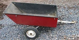 Wheel Horse Yard Wagon Cart Tractor Riding Mower Dump Trailer