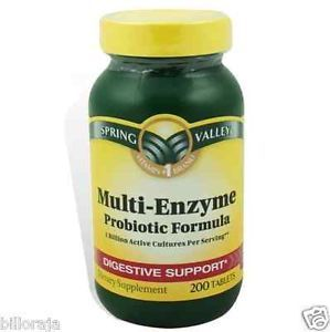 Spring Valley Multi Enzyme Probiotic Support Digestive Health Dietary Supplement