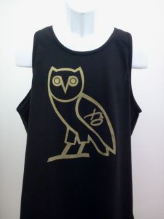 OVO Drake October's Very Own Tank Top Shirt Gold OVOXO Owl YMCMB Tee s XL Blk