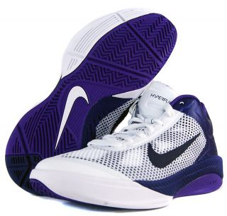 Nike Zoom Hyperfuse Low Sz 7 5 Mens Basketball Shoes White Black Purple