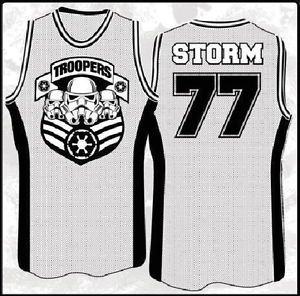 Star Wars Stormtroopers Troop Army Basketball Jersey Tank Top Shirt New M 2X