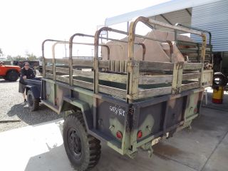 69 Military M101 A1 3 4 Ton Utility Cargo Truck Trailer 2 Wheel Camo Top M101A1