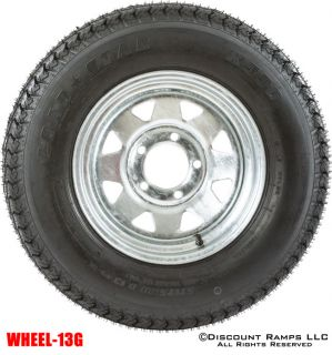 "13"" Galvanized Wheel 175 80D13 Boat camper Trailer Spare Rim Tire Wheel 13g"