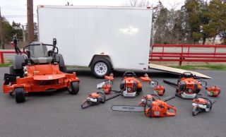 Husqvarna M ZT61 Zero Turn Lawn Mower Enclosed Trailer Fleet Package