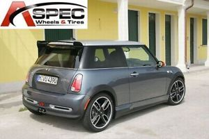 "18"" John Work Style Matt Black 4x100 Wheel Mini Cooper s JCW Clubman 09 2010 11"