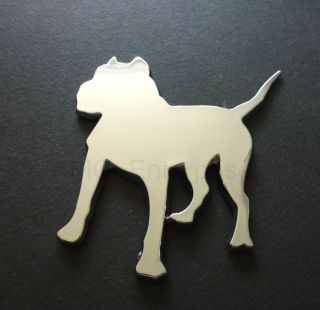 Self Adhesive Chrome Effect Pitbull Dog Badge for Mini Cooper One Clubman s D