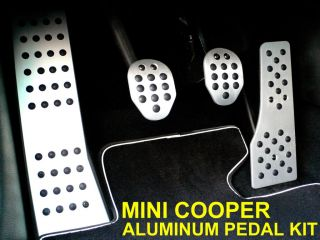 BMW Mini Cooper Aluminum Gas Brake Clutch Footrest Dead Pedal Cover Set Manual