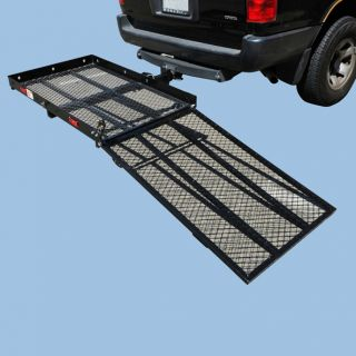 Strong 550 lbs Power Wheelchair Trailer Hitch Hauler Carrier Loading Ramp