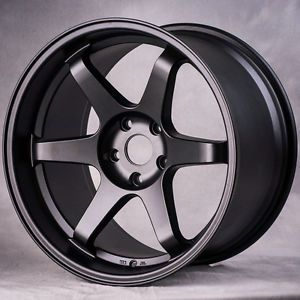 "18"" MIRO398 Style Matte Black Wheels Rims Fit Civic SI Coupe Sedan 2011"