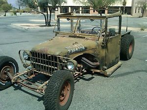 1952 M37 Dodge Power Wagon Military Rat Rod Truck Ratrod Hot Rod Hotrod