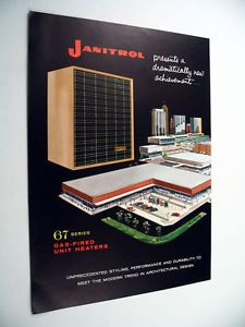 Janitrol 67 Series Gas Fired Unit Heaters 1960 Print Ad