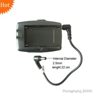 Battery Plate Adapter DSLR Camera HDMI LCD Monitor for Sony NP F970 F750 F960