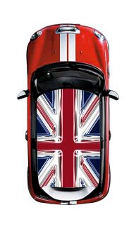 Mini Cooper Roof UK Flag Design Jack Union Classic Vinyl Sticker Decal Film 3
