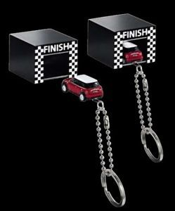Mini Cooper Garage Kit Key Hanger Holder Chain Keychain