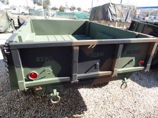 EX US Military 3 4 Ton M101A3 Utility Cargo Trailer 2 Wheel Camo Green HMMWV Rim