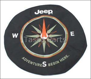 Brand New Mopar Spare Tire Cover 2001 2012 Jeep Wrangler 82210883AB