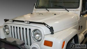 Denzus Lower Hood Light and Accessory Bar 1997 2006 Jeep Wranglers