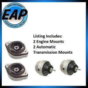 Audi A4 VW Passat 4CYL 1 8L Auto Transmission Engine Motor Mount Set New