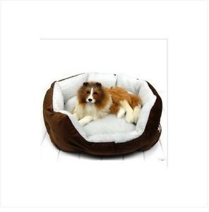 Coffee Indoor Soft Warm Pet Puppy Dog Bed House Small