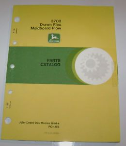 John Deere 3700 Plow Parts Catalog Manual Book JD