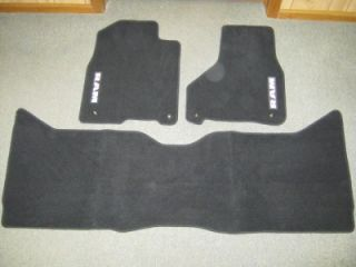 2013 2014 Dodge RAM Crew Cab Black Premium Carpeted Front Rear Floor Mats