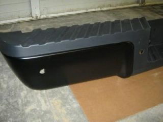 08 11 12 Ford F250 F350 Superduty Black Painted Rear Step Bumper w Sensor Holes