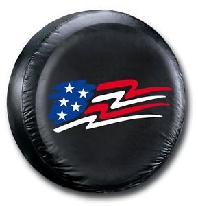 Jeep Spare Tire Cover US Flag Design