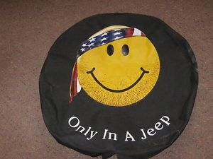 Jeep Hippy Smiley Face Spare Tire Cover Factory CJ