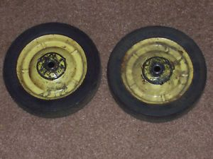 1958 John Deere Eska Farm Toy Vehicle Pedal Tractor Front Wheels Parts Used