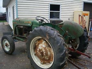 Oliver Super 55 Vintage Farm Tractor Parts Front Wheels Tires Need A Part Ask