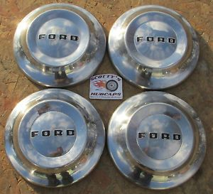 1952 1953 1954 Ford Crestline Sunliner Mainline Customline Dog Dish Hubcaps