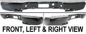 12473001 Primered New Step Bumper Rear Chevy Truck Full Size Pickup GMC Car Auto